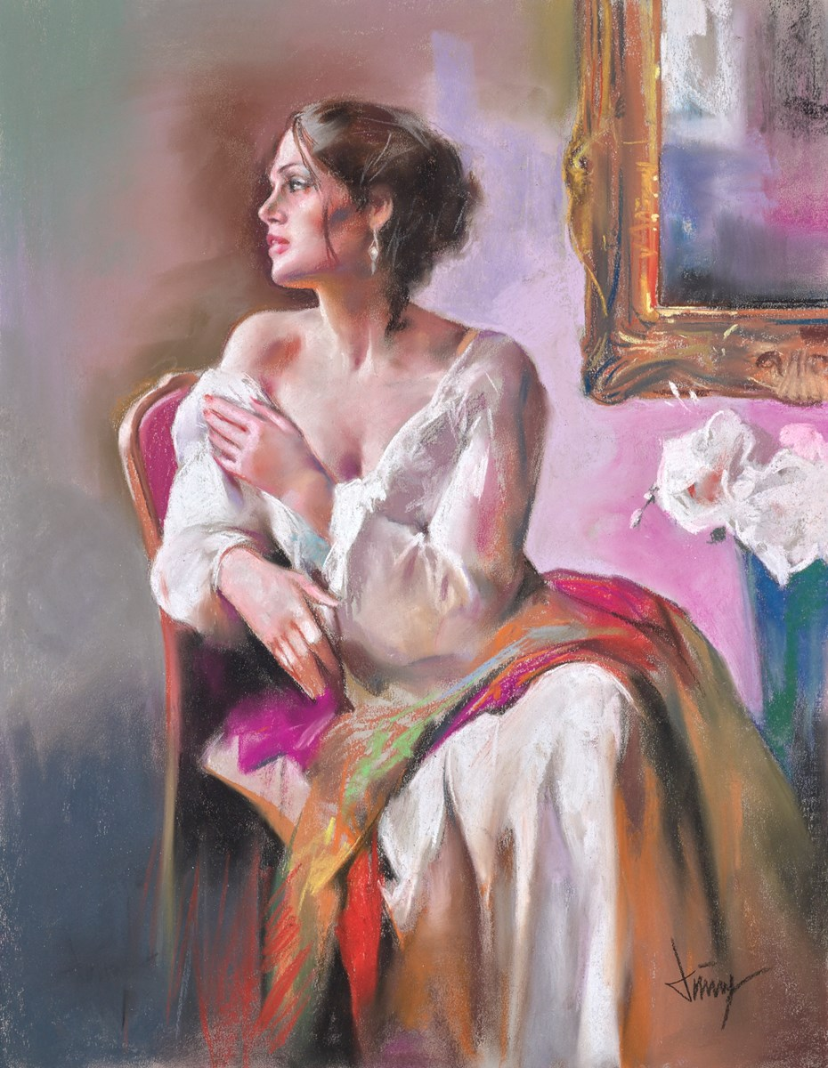 La Belleza III by domingo -  sized 20x26 inches. Available from Whitewall Galleries